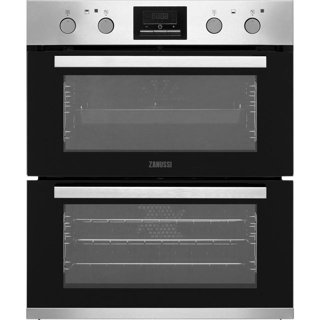 Zanussi ZOF35802XK Built Under Double Oven - Stainless Steel - B/B Rated - ZOF35802XK_SS - 1