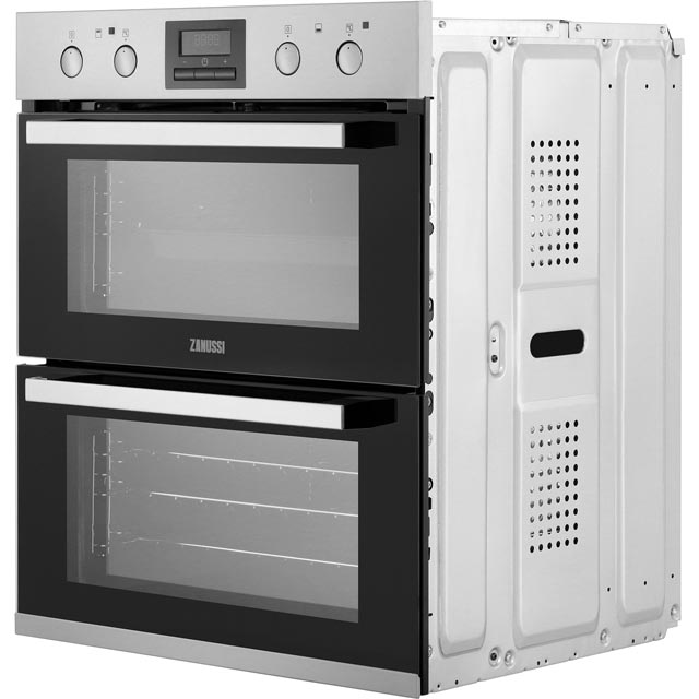 Zanussi ZOF35802XK Built Under Double Oven - Stainless Steel - ZOF35802XK_SS - 2
