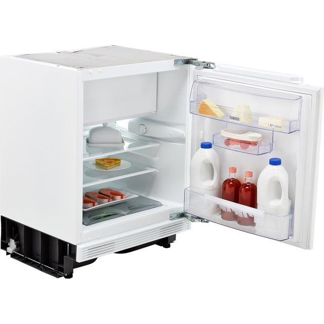 Zanussi ZQA12430DV Integrated Under Counter Fridge with Ice Box - Fixed Door Fixing Kit - A+ Rated