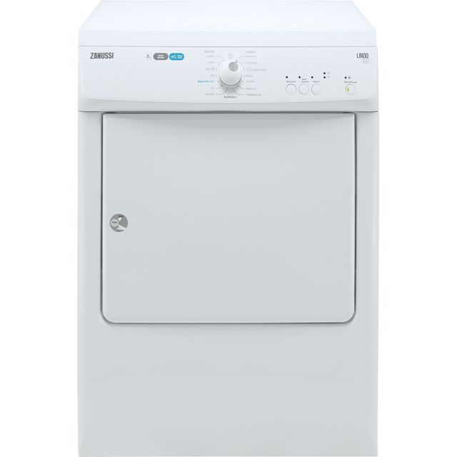 Zanussi ZTE7101PZ Vented Tumble Dryer - White - ZTE7101PZ_WH - 1