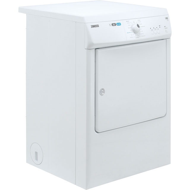 Zanussi ZTE7101PZ 7Kg Vented Tumble Dryer - White - C Rated - ZTE7101PZ_WH - 4