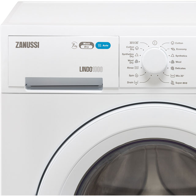 Zanussi Lindo1000 ZWD71460NW 7Kg / 4Kg Washer Dryer with 1400 rpm - White - ZWD71460NW_WH - 2