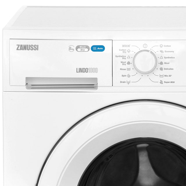 Zanussi Lindo1000 ZWD81663NW 8Kg / 4Kg Washer Dryer with 1550 rpm - White - ZWD81663NW_WH - 3