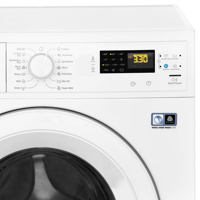 Zanussi Lindo1000 ZWD81663NW 8Kg / 4Kg Washer Dryer with 1550 rpm - White - ZWD81663NW_WH - 4