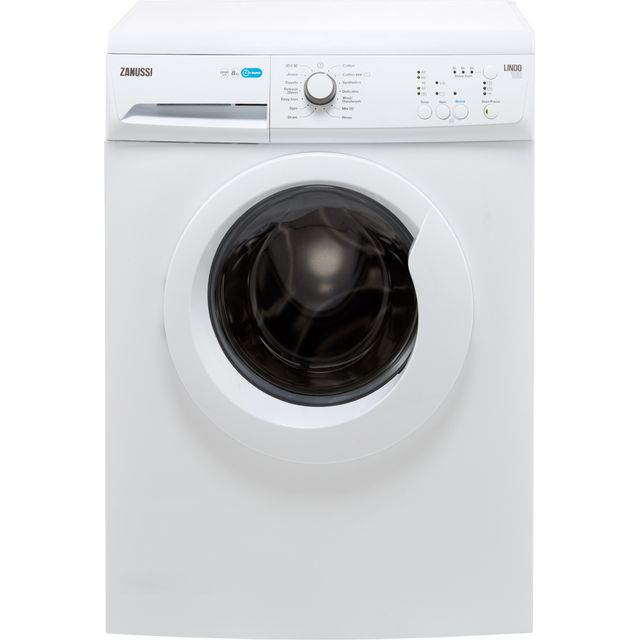 Zanussi Lindo100 ZWF81240NW 8Kg Washing Machine with 1200 rpm - White - A+++ Rated - ZWF81240NW_WH - 1