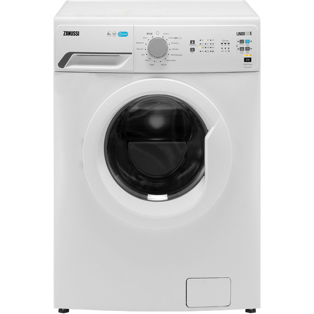 Zanussi Lindo100 ZWF81240WE 8Kg Washing Machine with 1200 rpm - White - A+++ Rated