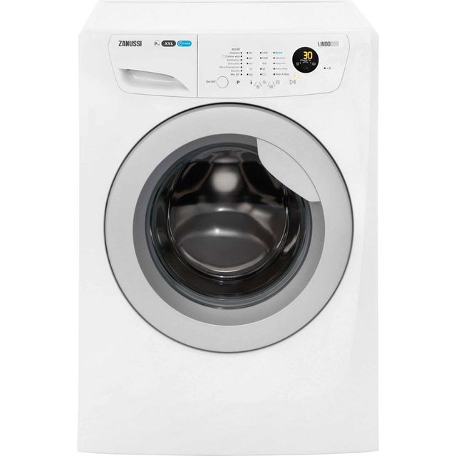 Zanussi Lindo300 ZWF91483WR 9Kg Washing Machine with 1400 rpm - White - A+++ Rated - ZWF91483WR_WH - 1