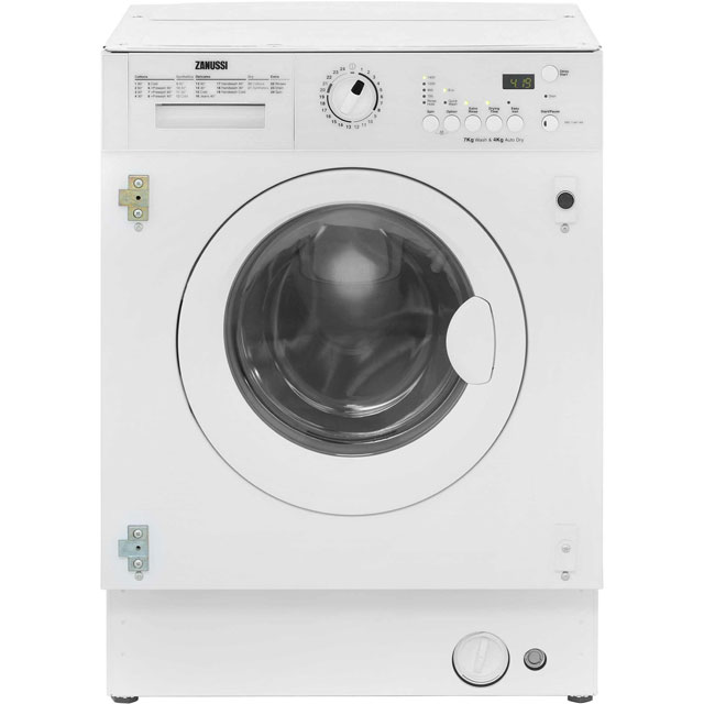 Zanussi ZWT7142WA Integrated Washer Dryer in White