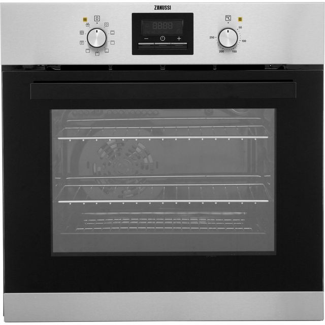 Zanussi ZZB35901XC Built In Electric Single Oven - Stainless Steel - ZZB35901XC_SS - 1
