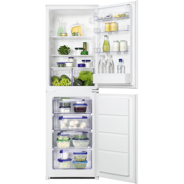 Zanussi ZBB27450SV Integrated 50/50 Fridge Freezer with Sliding Door Fixing Kit - White - A+ Rated - ZBB27450SV_WH - 1