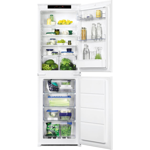 Zanussi ZBB27650SV Integrated 50/50 Frost Free Fridge Freezer with Sliding Door Fixing Kit - White - A+ Rated