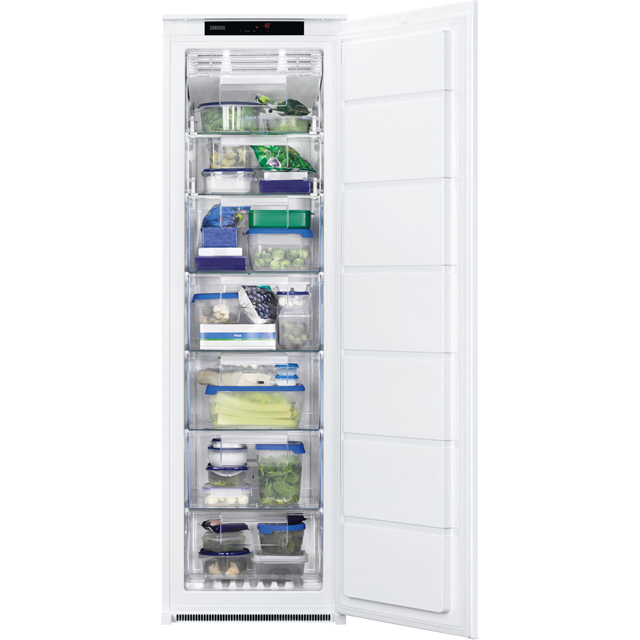 Zanussi ZBF22451SV Built In Upright Freezer - White - ZBF22451SV_WH - 1
