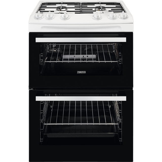 Zanussi ZCG63050WA 55cm Gas Cooker with Full Width Electric Grill - White - A/A Rated Best Price, Cheapest Prices