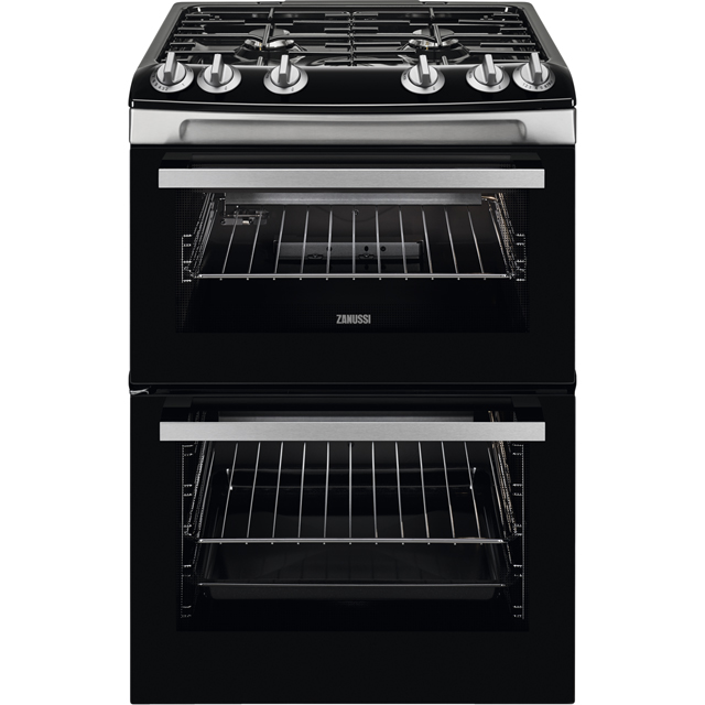 Zanussi ZCG63080XV 60cm Gas Cooker with Full Width Electric Grill - Stainless Steel - A/A Rated