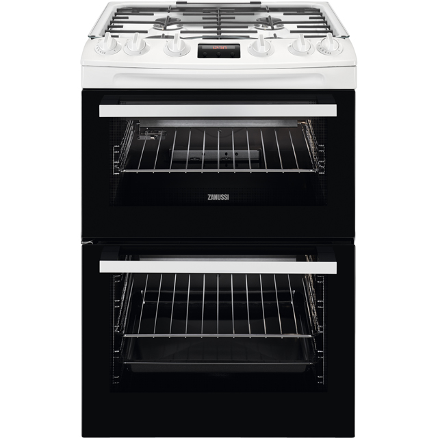 Zanussi ZCG63250WA 60cm Gas Cooker with Full Width Electric Grill - White - A/A Rated - ZCG63250WA_WH - 1