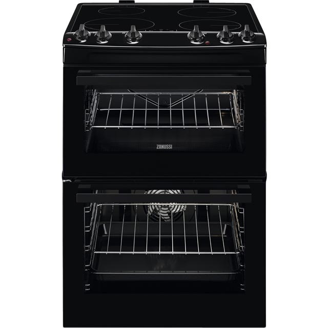 Zanussi ZCI66050BA 60cm Electric Cooker with Induction Hob - Black - A/A Rated