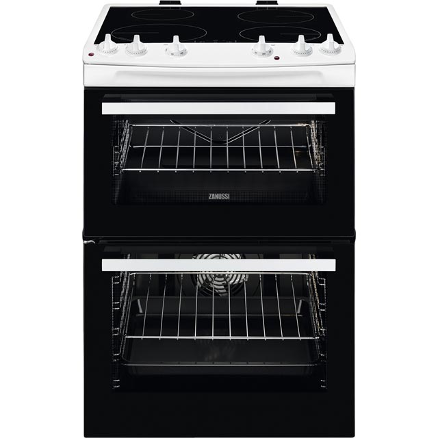 Zanussi 60cm Electric Cooker with Induction Hob - White - A/A Rated