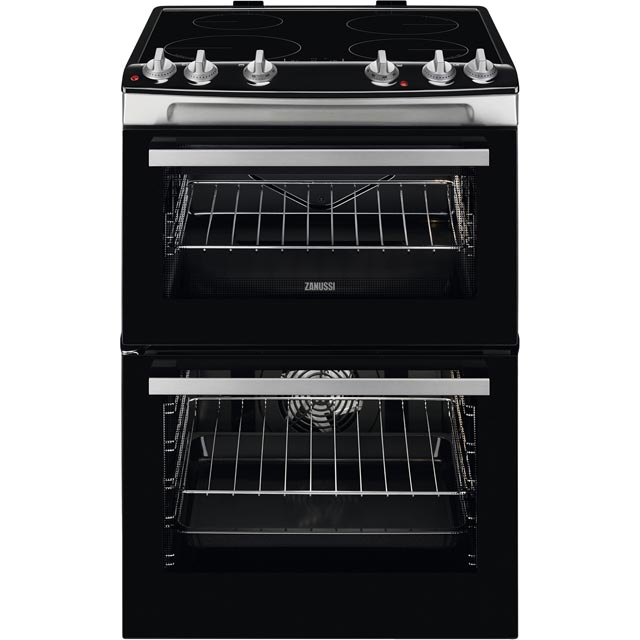 Zanussi 60cm Electric Cooker with Induction Hob - Stainless Steel - A/A Rated