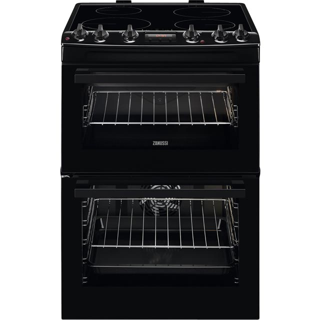 Zanussi 60cm Electric Cooker with Induction Hob - Black - A/A Rated