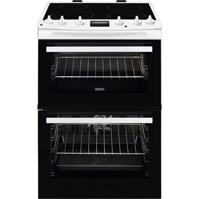 Zanussi ZCI66250WA 60cm Electric Cooker with Induction Hob - White - A/A Rated - ZCI66250WA_WH - 1