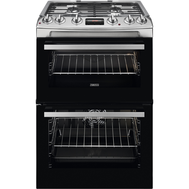 Zanussi ZCK66350XA 60cm Dual Fuel Cooker - Stainless Steel - A/A Rated