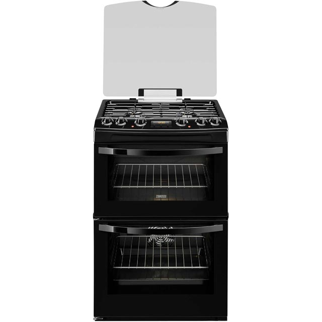 Zanussi Dual Fuel Cooker - Black - A/A Rated