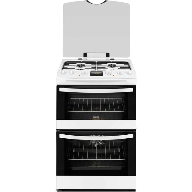 Zanussi 60cm Dual Fuel Cooker - White - A/A Rated
