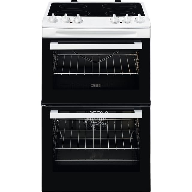 Zanussi ZCV46050WA 55cm Electric Cooker with Ceramic Hob - White - A/A Rated - ZCV46050WA_WH - 1