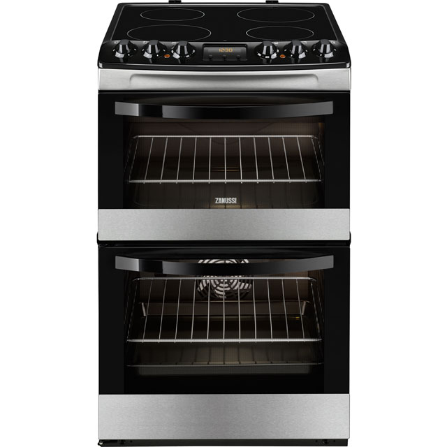 Zanussi Avanti ZCV48300XA Electric Cooker with Ceramic Hob - Stainless Steel - A/A Rated