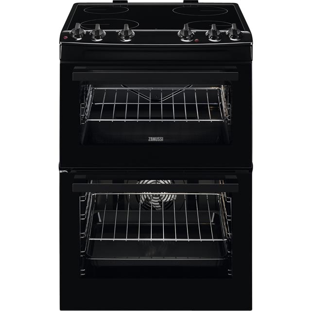 Zanussi ZCV66050BA 60cm Electric Cooker with Ceramic Hob - Black - A/A Rated - ZCV66050BA_BK - 1