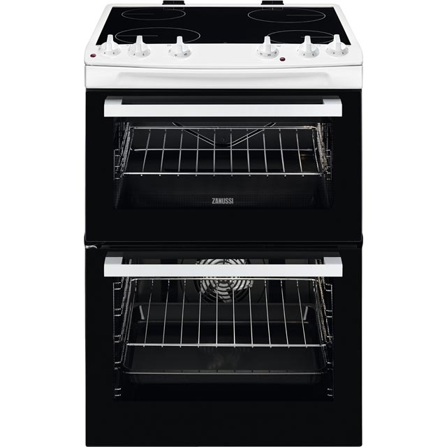 Zanussi ZCV66050WA 60cm Electric Cooker with Ceramic Hob - White - A/A Rated - ZCV66050WA_WH - 1