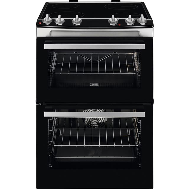 Zanussi ZCV66050XA 60cm Electric Cooker with Ceramic Hob - Stainless Steel - A/A Rated - ZCV66050XA_SS - 1