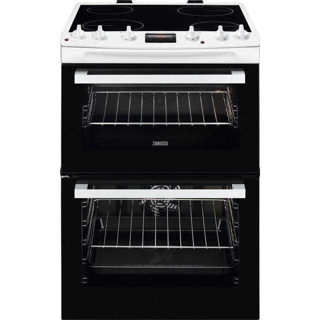 Zanussi ZCV66250WA 60cm Electric Cooker with Ceramic Hob - White - A/A Rated - ZCV66250WA_WH - 1