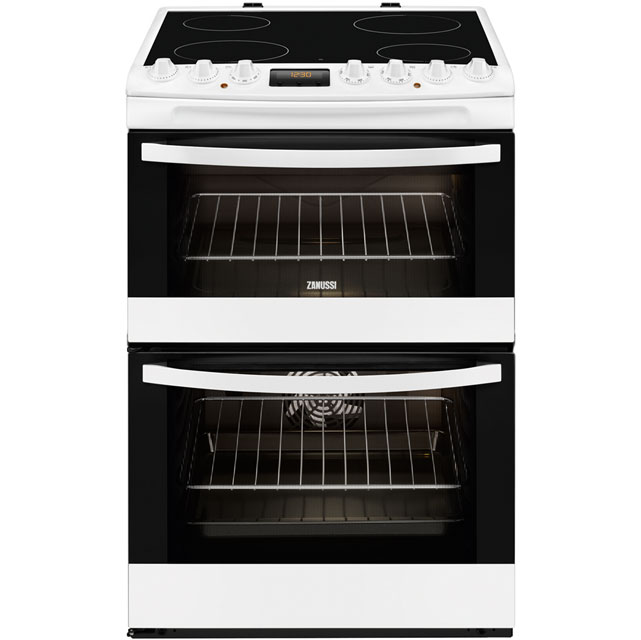 Zanussi Avanti ZCV68310WA Electric Cooker with Ceramic Hob - White - A/A Rated