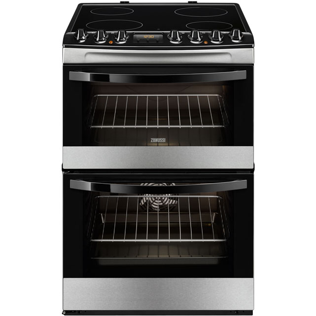 Zanussi Avanti ZCV68310XA Electric Cooker with Ceramic Hob - Stainless Steel - A/A Rated