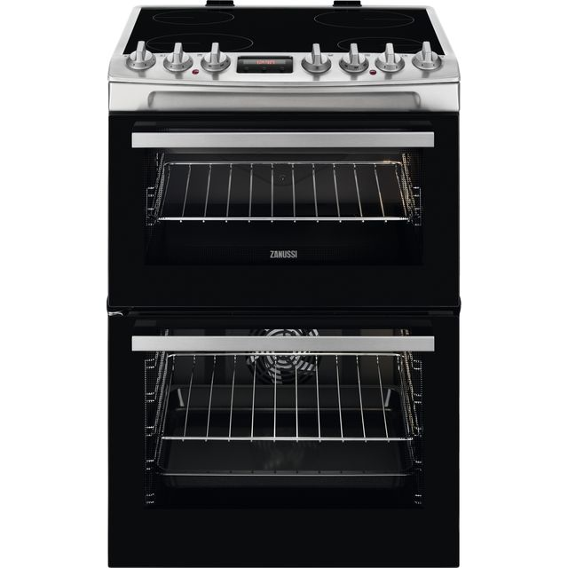 Zanussi 60cm Electric Cooker with Ceramic Hob - Stainless Steel - A/A Rated