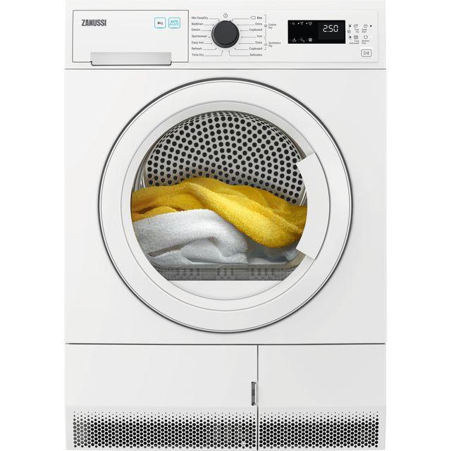 Zanussi ZDH87B4PW 8Kg Heat Pump Tumble Dryer - White - A++ Rated