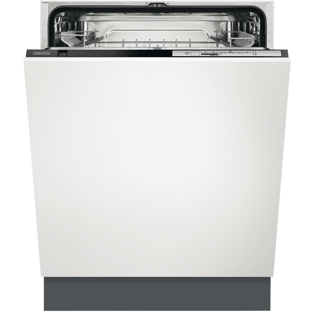 Zanussi ZDT22003FA Fully Integrated Standard Dishwasher - Black Control Panel - A+ Rated - ZDT22003FA_BK - 1