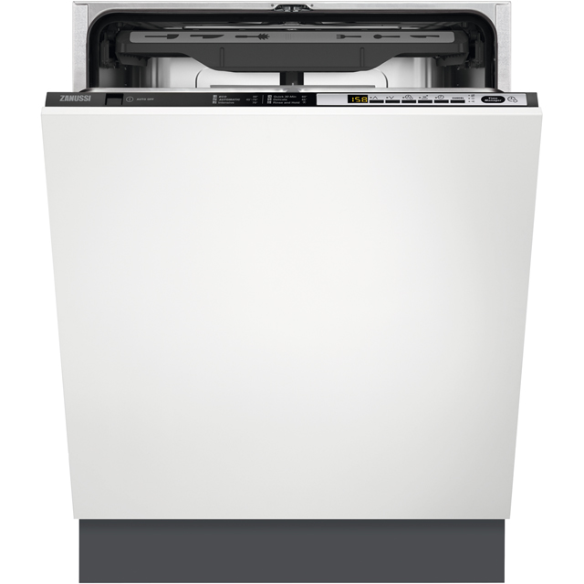 Zanussi ZDT36001FA Fully Integrated Standard Dishwasher - Black Control Panel with Sliding Door Fixing Kit - A++ Rated - ZDT36001FA_BK - 1