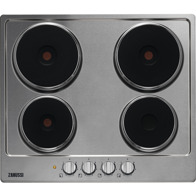 Zanussi ZEE6942FXS Built In Solid Plate Hob - Stainless Steel - ZEE6942FXS_SS - 1