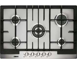 Product image for Zanussi ZGG76524XA 74cm Gas Hob - Stainless Steel