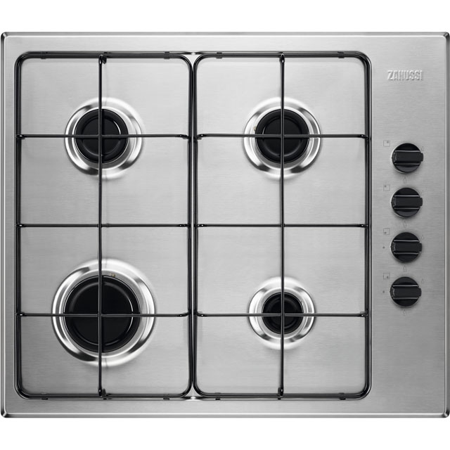 Zanussi 59cm Gas Hob - Stainless Steel