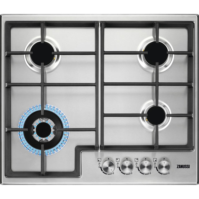 Zanussi ZGH66424XX 60cm Gas Hob - Stainless Steel