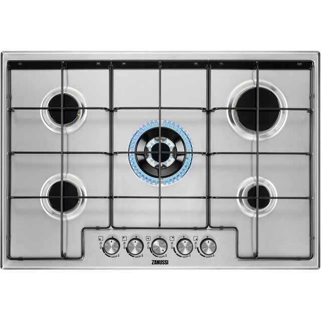 Zanussi ZGH75524XB 74cm Gas Hob - Stainless Steel - ZGH75524XB_SS - 1