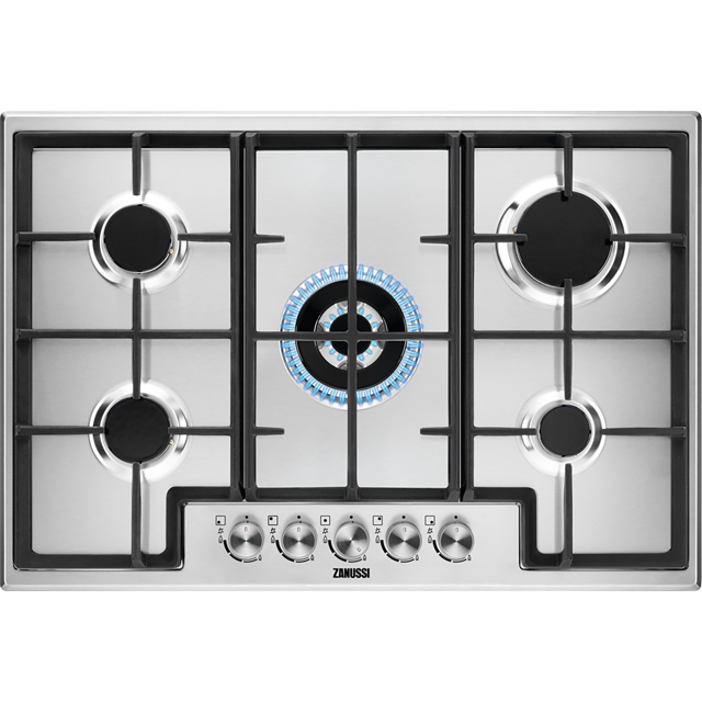 Zanussi ZGH76524XX 74cm Gas Hob - Stainless Steel - ZGH76524XX_SS - 1