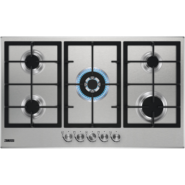 Zanussi ZGH96524XS Built In Gas Hob - Stainless Steel - ZGH96524XS_SS - 1