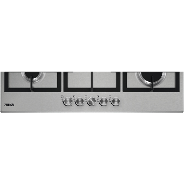 Zanussi ZGH96524XS Built In Gas Hob - Stainless Steel - ZGH96524XS_SS - 2