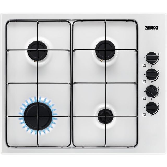 Zanussi ZGNN640W Built In Gas Hob - White - ZGNN640W_WH - 1