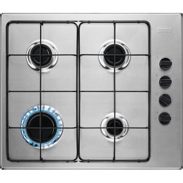 Zanussi ZGNN640X Built In Gas Hob - Stainless Steel - ZGNN640X_SS - 1