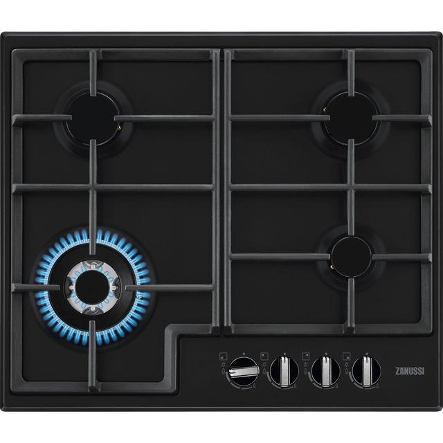 Zanussi ZGNN645K Built In Gas Hob - Black - ZGNN645K_BK - 1
